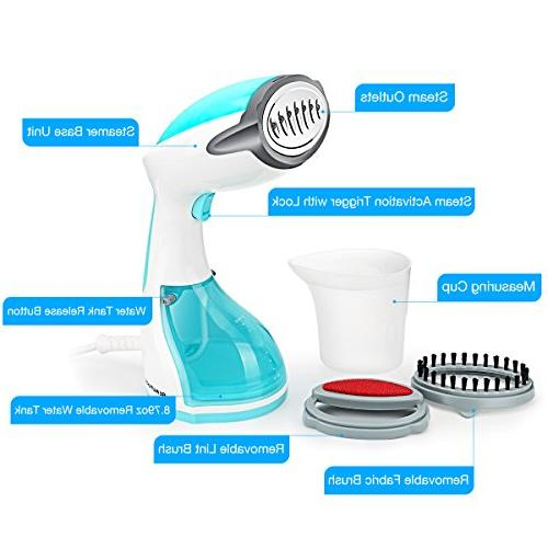 Beautural Steamer for 1200-Watt Powerful Handheld Steamers, Remover, Clean and Heat-up, 100% 260ml High Capacity Home and Travel