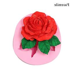 ♛Euone Mold ♛Clearance♛, Silicone 3D Big Rose Flower F
