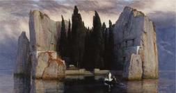 Oil Painting 'Arnold Bocklin - Isle Of The Dead,1880' Printi