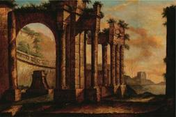 'the Ancient City At Dusk' Oil Painting, 20x30 Inch / 51x76